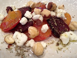 Roasted Red and Golden Beet Salas