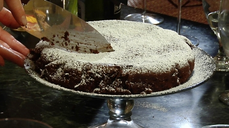 Gluten Free Chocolate Almond Cake - Torta Caprese
