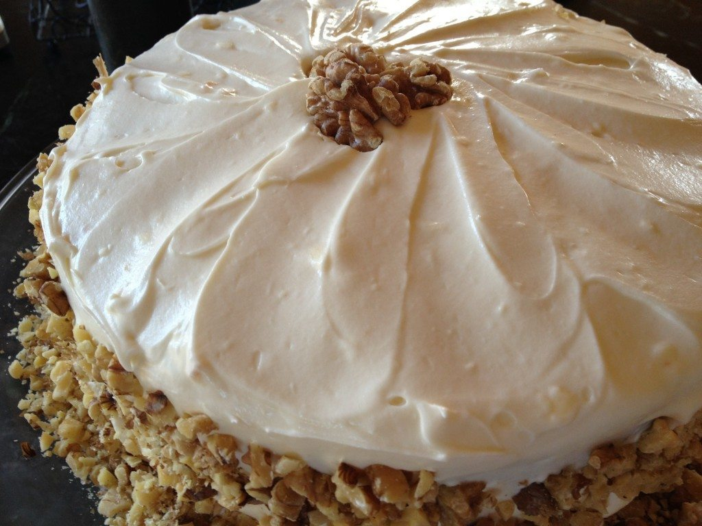 Old Fashioned Carrot Cake And Cream Dessert Recipe